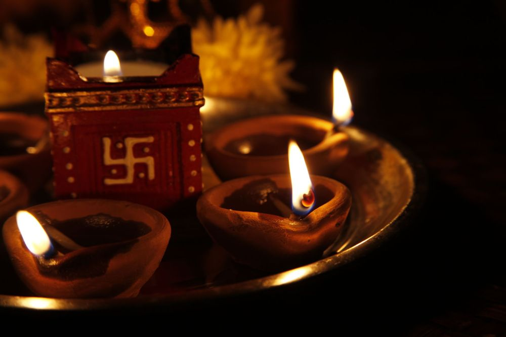 Lámparas de Diwali (de Flickr user vijaymverma)