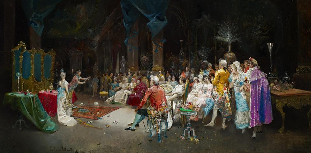 Mago en palacio, de Eugenio Lucas Villamil (1894)